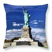 Liberty Island Throw Pillow