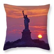Liberty Lady Throw Pillow