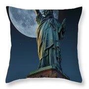 Liberty Moon Throw Pillow