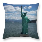 Liberty On Lake Pend Oreille  Throw Pillow