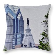 Liberty Place And City Hall Throw Pillow