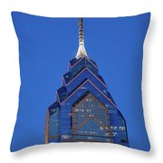 Liberty Place Skyscrapper At Dusk Throw Pillow