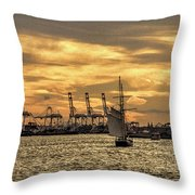 Liberty Sailing  Throw Pillow