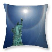 Liberty's Halo Throw Pillow