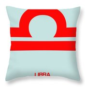 Libra Zodiac Sign Red Throw Pillow