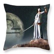 Libra Zodiac Symbol Throw Pillow