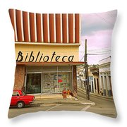 Library Corner Throw Pillow