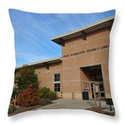 Library In Clare Michigan Throw Pillow