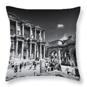 Library Of Celsus - Ephesus Throw Pillow