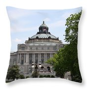 Library Of Congress - Thomas Jefferson Building Throw Pillow