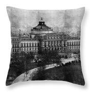 Library Of Congress Washington Dc 1902 Sketch Throw Pillow