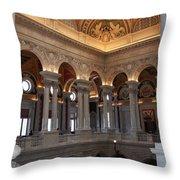 Library Of Congress Washington Dc Throw Pillow