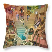Library Of The Mind Throw Pillow