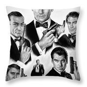Licence To Kill  Bw Throw Pillow