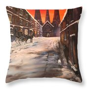 Lichfield Cathedral A View From The Close Throw Pillow