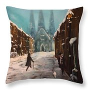 Lichfield Cathedral Throw Pillow