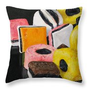 Licorice Candy Throw Pillow