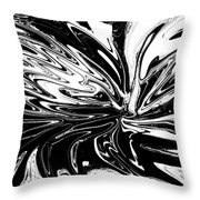 Licorice In Abstract Throw Pillow