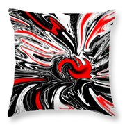 Licorice With Red Cherry Throw Pillow