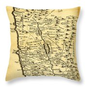 Liebauxs Map Of The Holy Land 1720 Throw Pillow