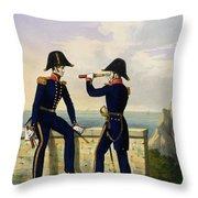 Lieutenants, Plate 1 From Costume Throw Pillow