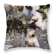 Life And Death On The River Of Rocks Trail Throw Pillow