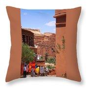 Life At Ait Ben Haddou 2 Throw Pillow