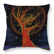 Life Blood Tree By Jrr Throw Pillow