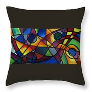 Life Colors Throw Pillow