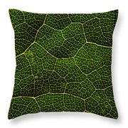 Life Grid In A Leaf Throw Pillow