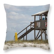 Life Guards On Duty Throw Pillow
