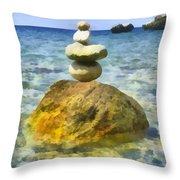 Life In Balance Throw Pillow