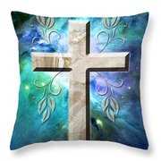 Life In Blue Throw Pillow