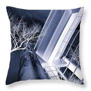 Life In Glass Mono 3 Throw Pillow