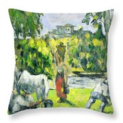 Life In The Fields Throw Pillow