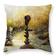 Life Is A Balancing Act Throw Pillow