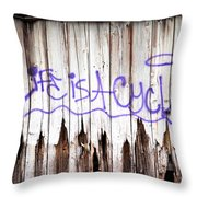 Life Is A Cycle Throw Pillow
