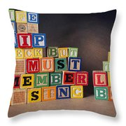Life Is A Shipwreck But We Must Remember To Sing In The Lifeboats Throw Pillow