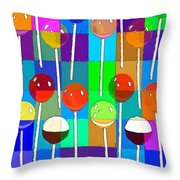Life Is Full Of Lollipops Throw Pillow