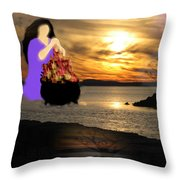 Life Is Gold Throw Pillow