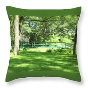 Life Is  Green  Throw Pillow