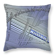 Life Is Material Throw Pillow
