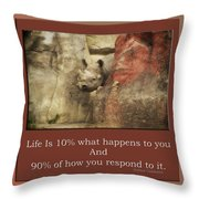 Life Is Moments Of Camouflage Throw Pillow