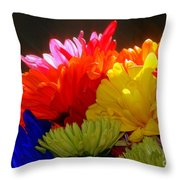 Life Is Short Buy The Flowers Throw Pillow