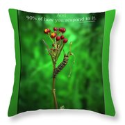 Life Is Slow And Steady Throw Pillow