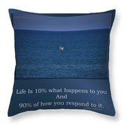 Life Is Soaring Solo Sometimes Throw Pillow