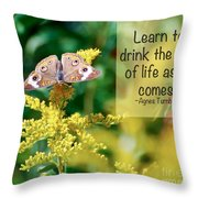 Life Lesson - As It Comes Throw Pillow