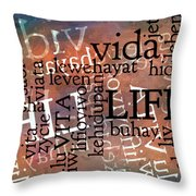 Life Letters Two Throw Pillow