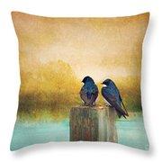 Life Long Friends - Days End Throw Pillow