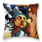 Life Of Roy Painting With Hidden Pictures Throw Pillow